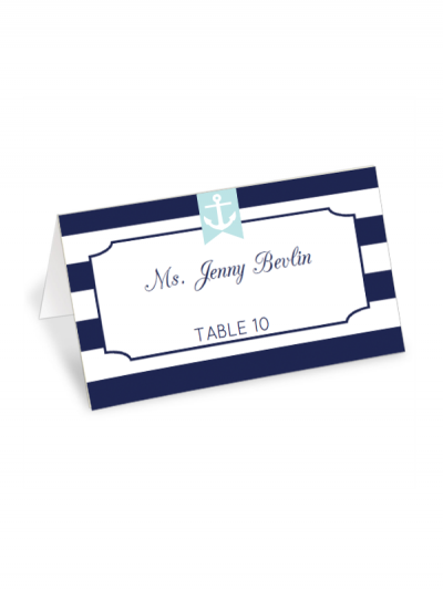Free Printable Nautical Striped Place Card Maker From Chicfetti Freeprintable