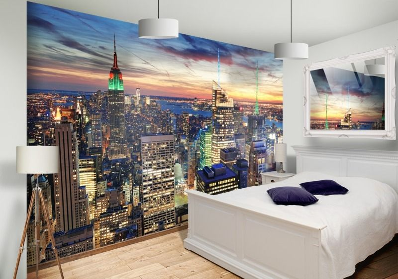 New York Skyline Wall Mural Bedroom Part 95