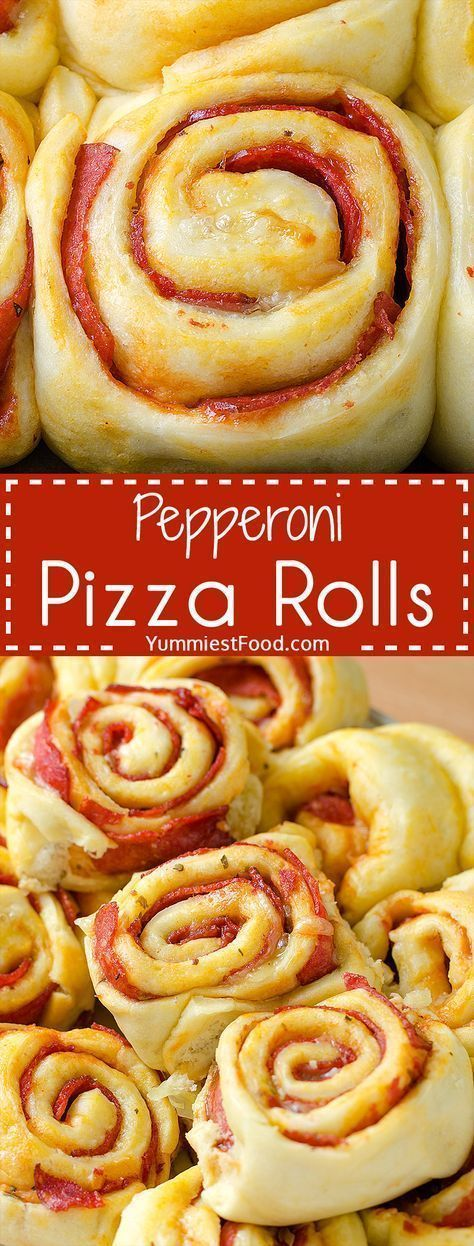 Pepperoni Pizza Rolls #footballpartyfood