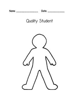 Quality Student Activity Badrige Person Outline Body Outline Body Template