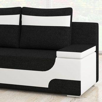 Canape 2 Places Convertible Noir Et Blanc Sofamobili