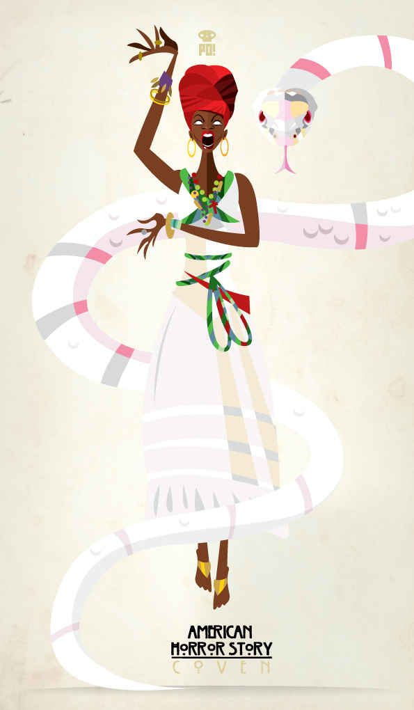{Small Screen} Marie Laveau. American Horror Story: Coven Minimalist Poster by Patricio Oliver / patriciooliverthetenebrae.tumblr.com #AmericanHorrorStory #AHS #Coven @AmericanHorrorStory