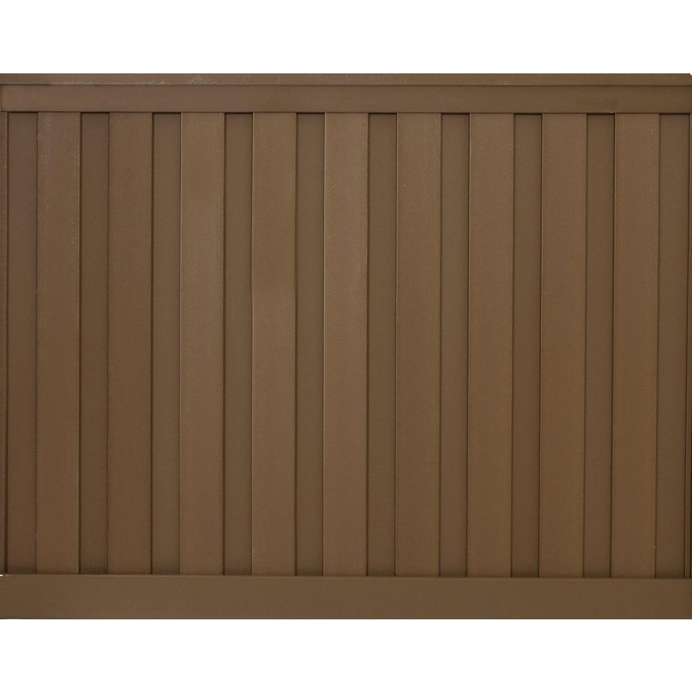 Trex Seclusions 6 Ft X 8 Ft Saddle Brown Wood Plastic Composite