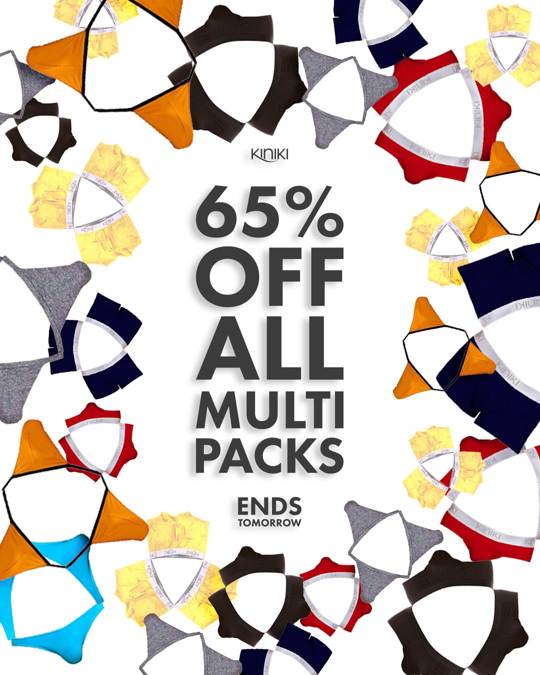 Get 65 Off All Men's Multipacks This Weekend! Must End