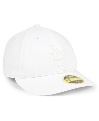 new style 170ff d35d1 New Era New York Mets Triple White Low Profile 59FIFTY Fitted Cap - White 7  5 8