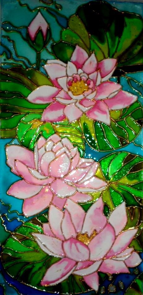 Vitrazhnaya Rospis Stained Glass Paint Stained Glass Flowers