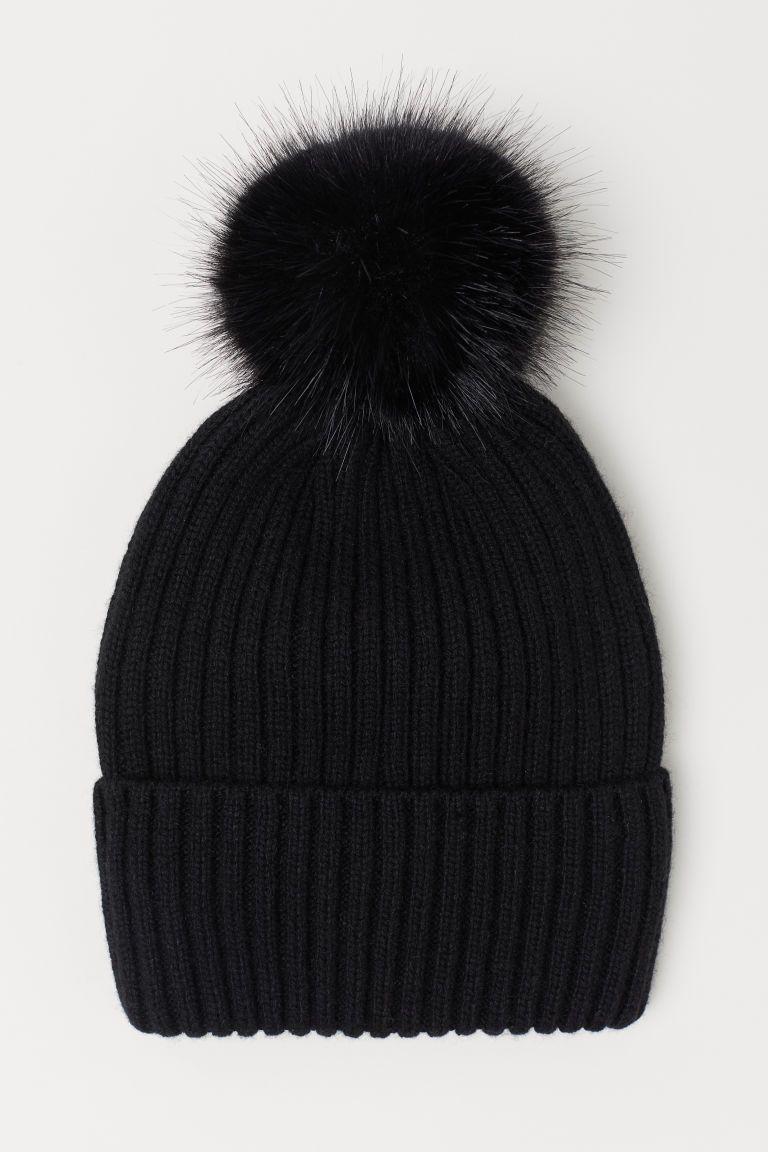 e1dfba8f30f Ribbed Hat - Black - Ladies