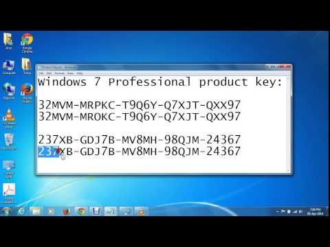 Windows 7 professional product key generator full free for Windows 07 product key