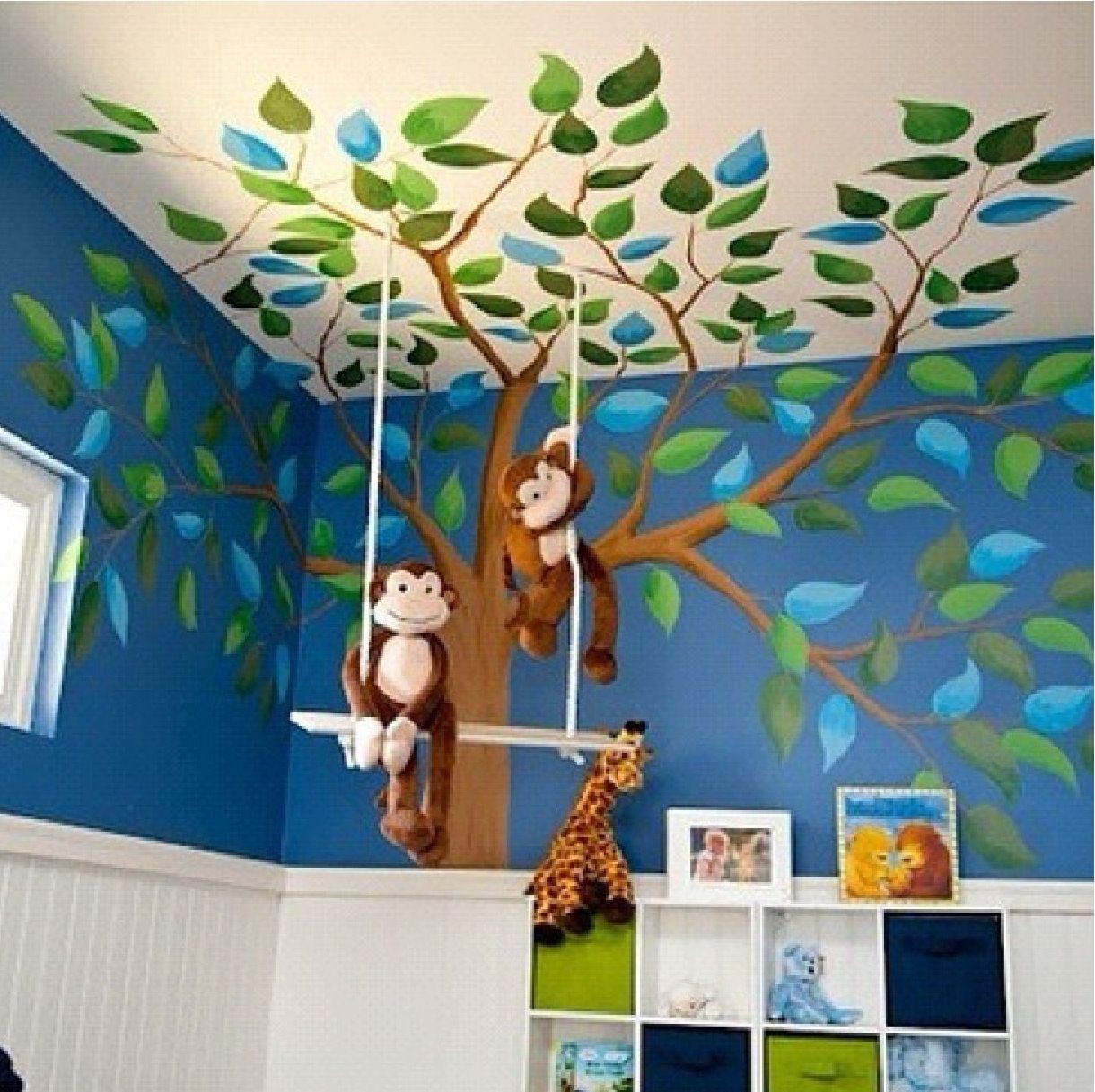 Child Care Room Decoration Cute Monkey Nursery Monkey Room Baby Boy Nurseries