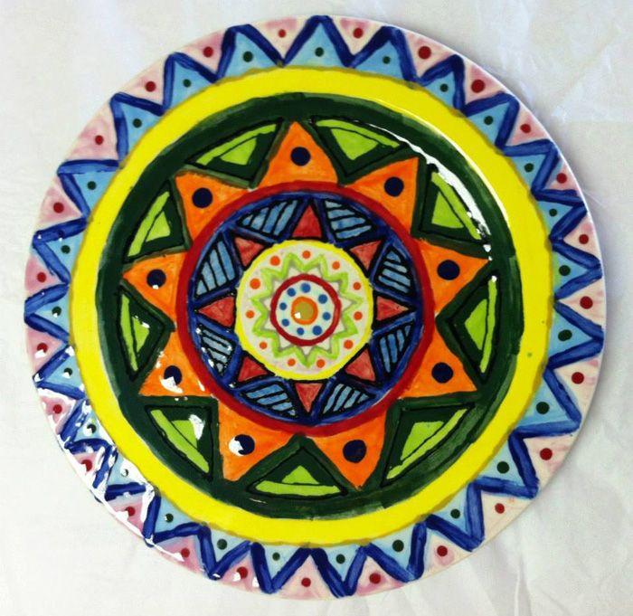 Töpfern Ideen Kreative Gestaltung Diy Ideen Diy Deko Selber Machen Handwerk  Teller Bemalen