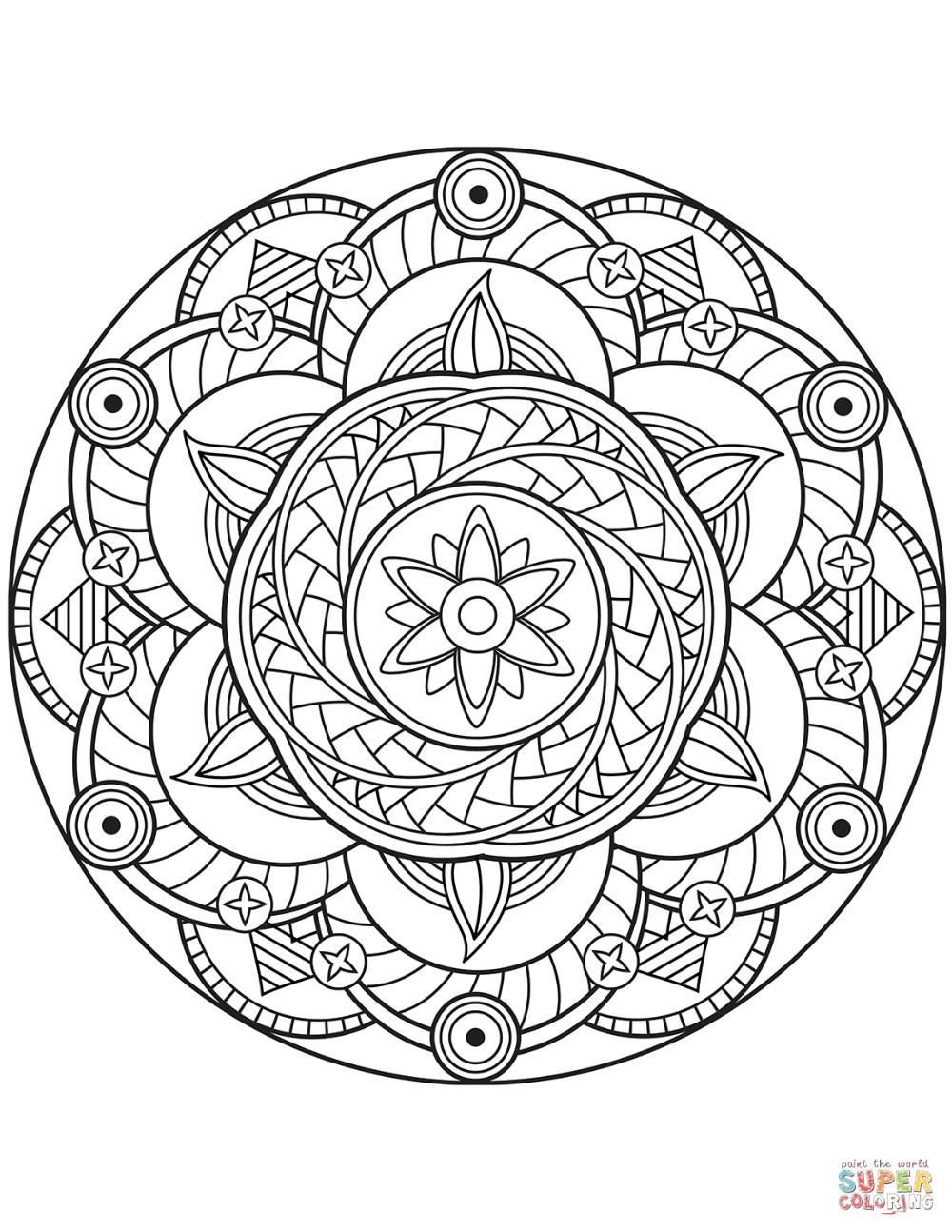 Flower Mandala Super Coloring In 2021 Mandala Coloring Mandala Coloring Books Mandala Coloring Pages [ 1294 x 1000 Pixel ]