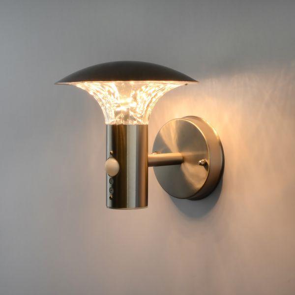Exceptional LED Außenleuchte Wandleuchte Aus Edelstahl Mit Bewegungsmelder Design Ideas