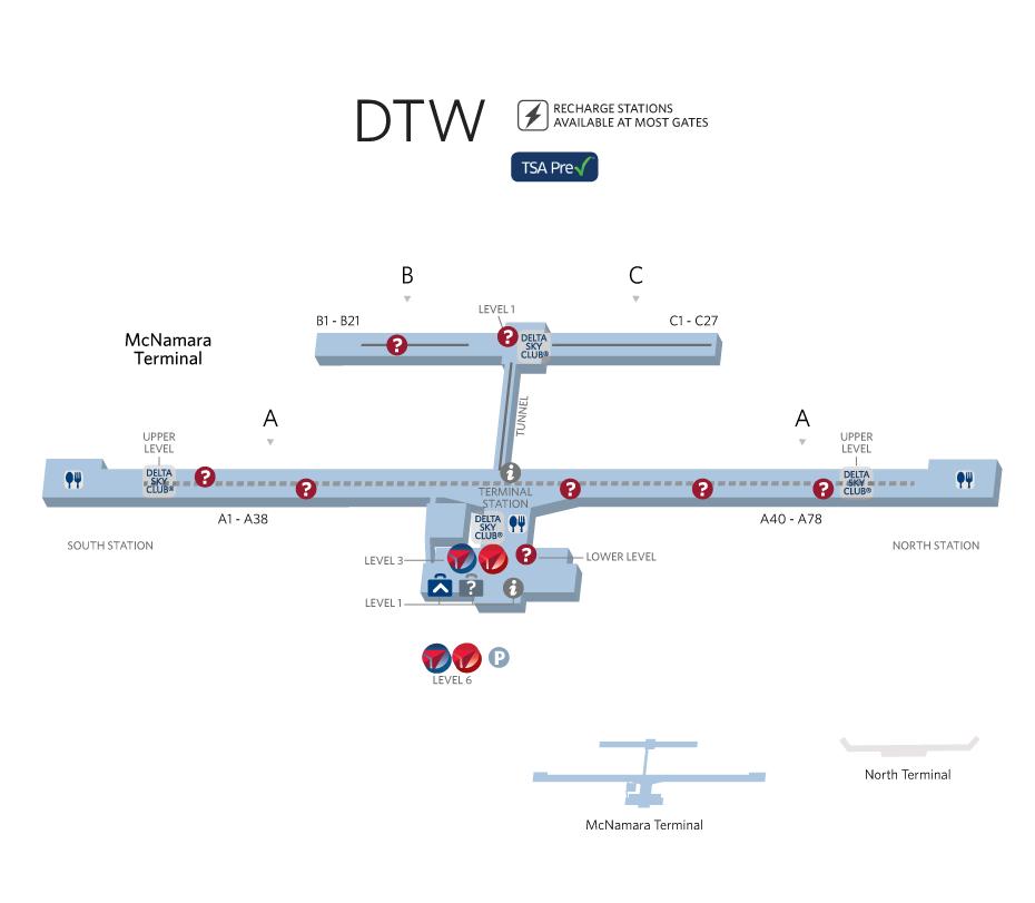 Detroit Metropolitan Airport Detroit Michigan Airports Ive - Michigan airports
