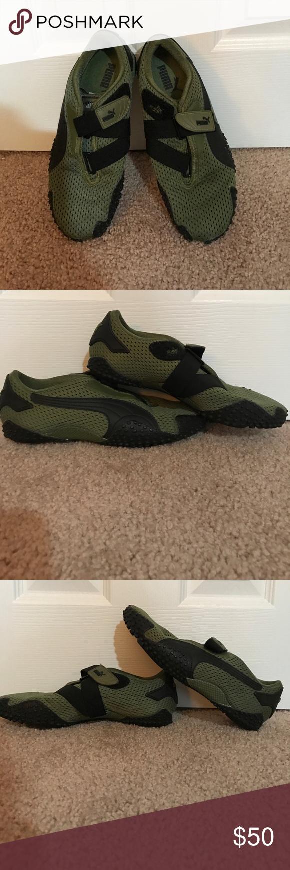 Black Closet Puma Sneakers Green Posh My Olive Velcro Txx4qZf