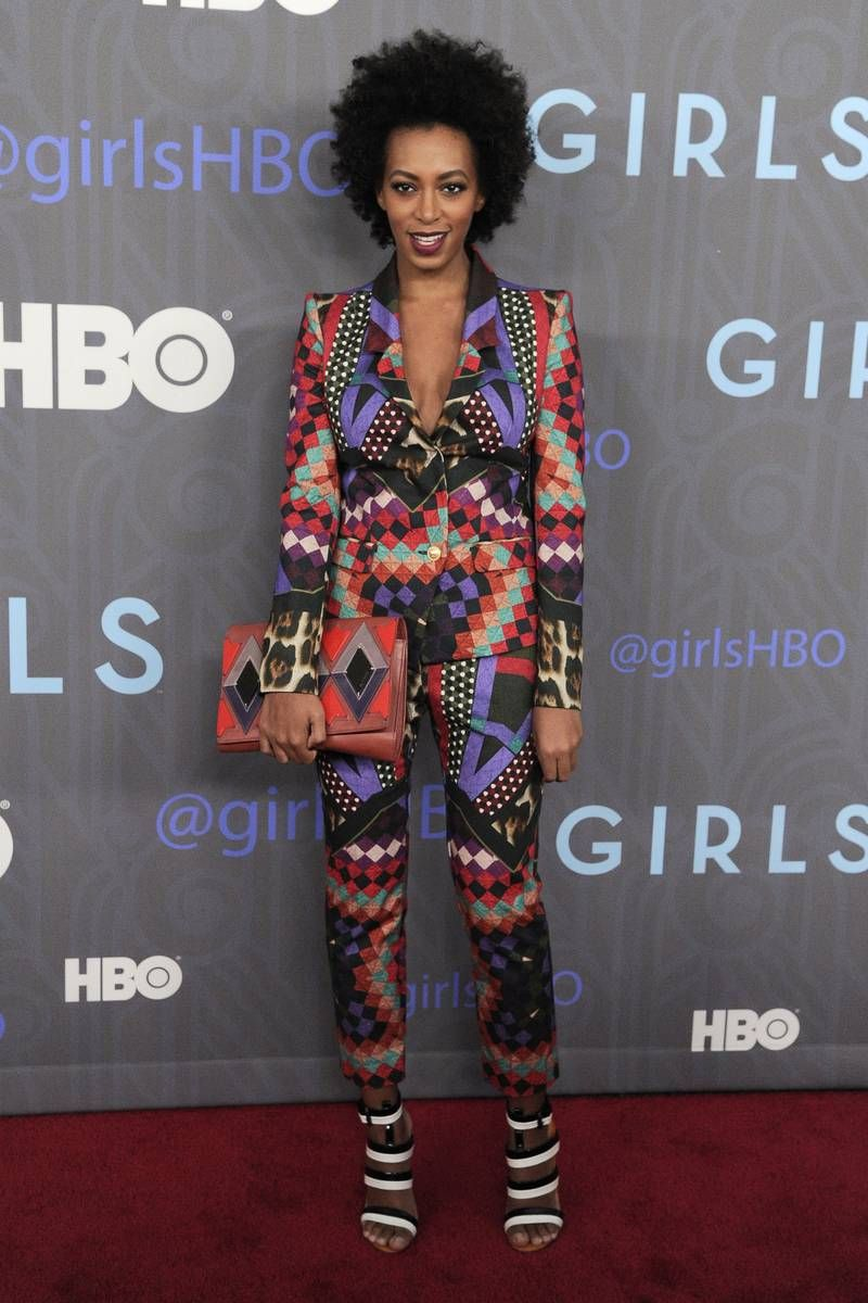 Solange Knowles at the Girls Season 2 Premiere