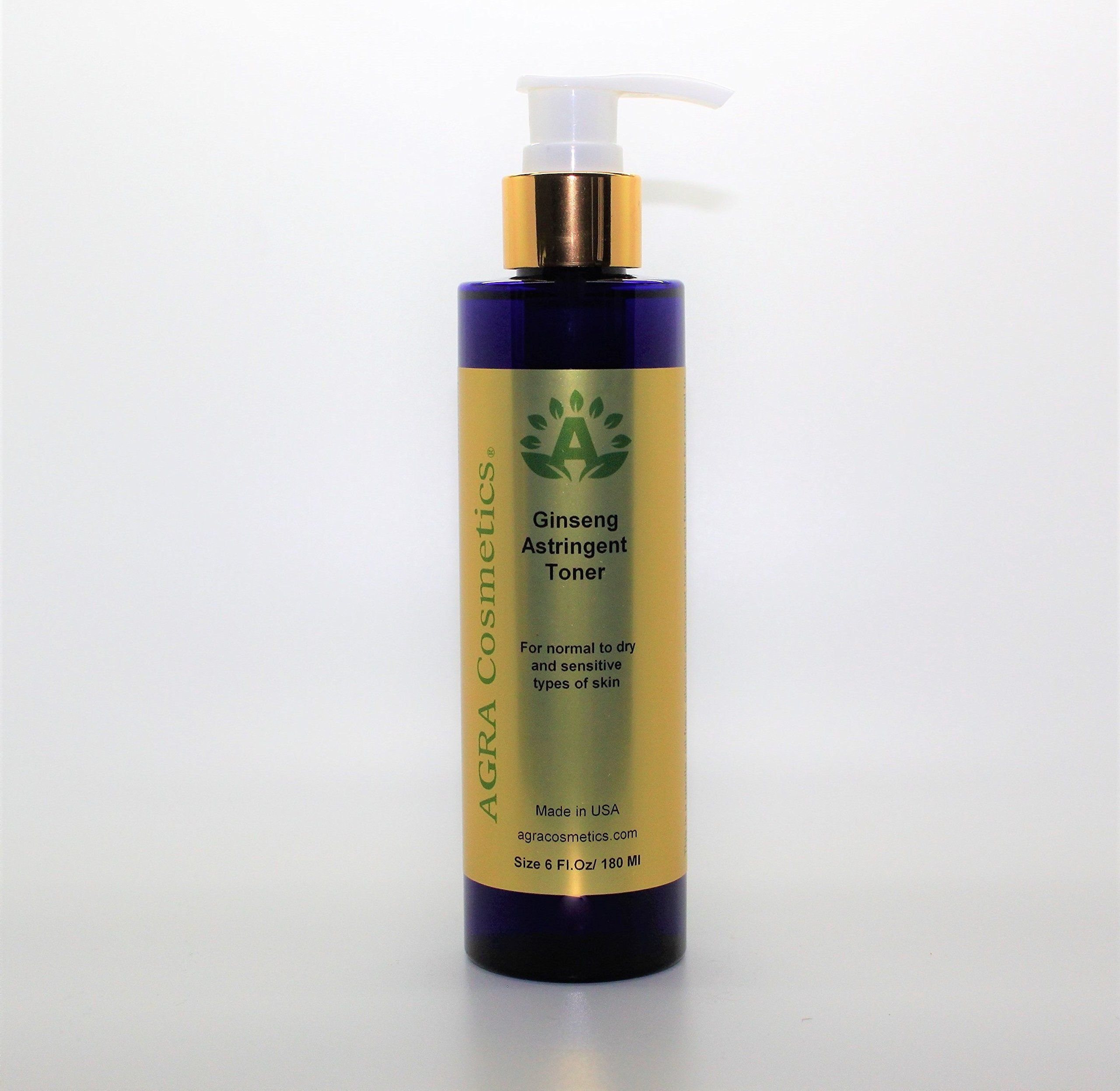Agra Cosmetics Ginseng Astringent Toner 6 Fl Oz Avoid Contact With Eyes And Mucous Membranes Keep Out Of Astringent Toner Face Cleanser Best Face Products