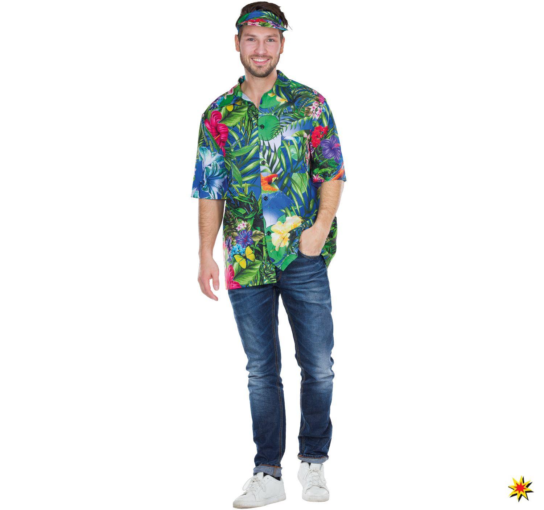 Herren Kostüm Hawaii Hemd bunt   Herren kostüm, Hemd, Herrin