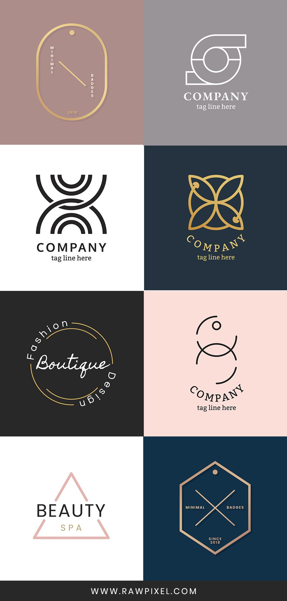 Get Free Luxurious And Classic Corporate Logo Vectors At Rawpixel Com Corporate Logo Corporate Logo Design Initials Logo Design
