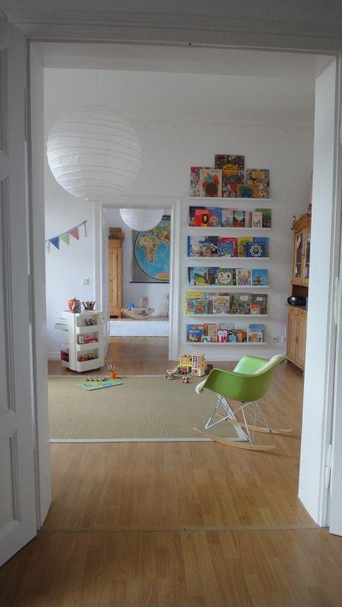 bücherwand und lampe Bücherregal kinder, Kinderzimmer