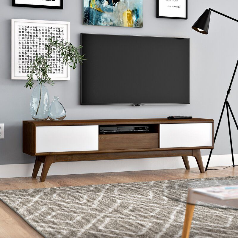 Chew Stoke Tv Stand For Tvs Up To 65 Tv Stand Mid Century Modern Tv Stand Furniture