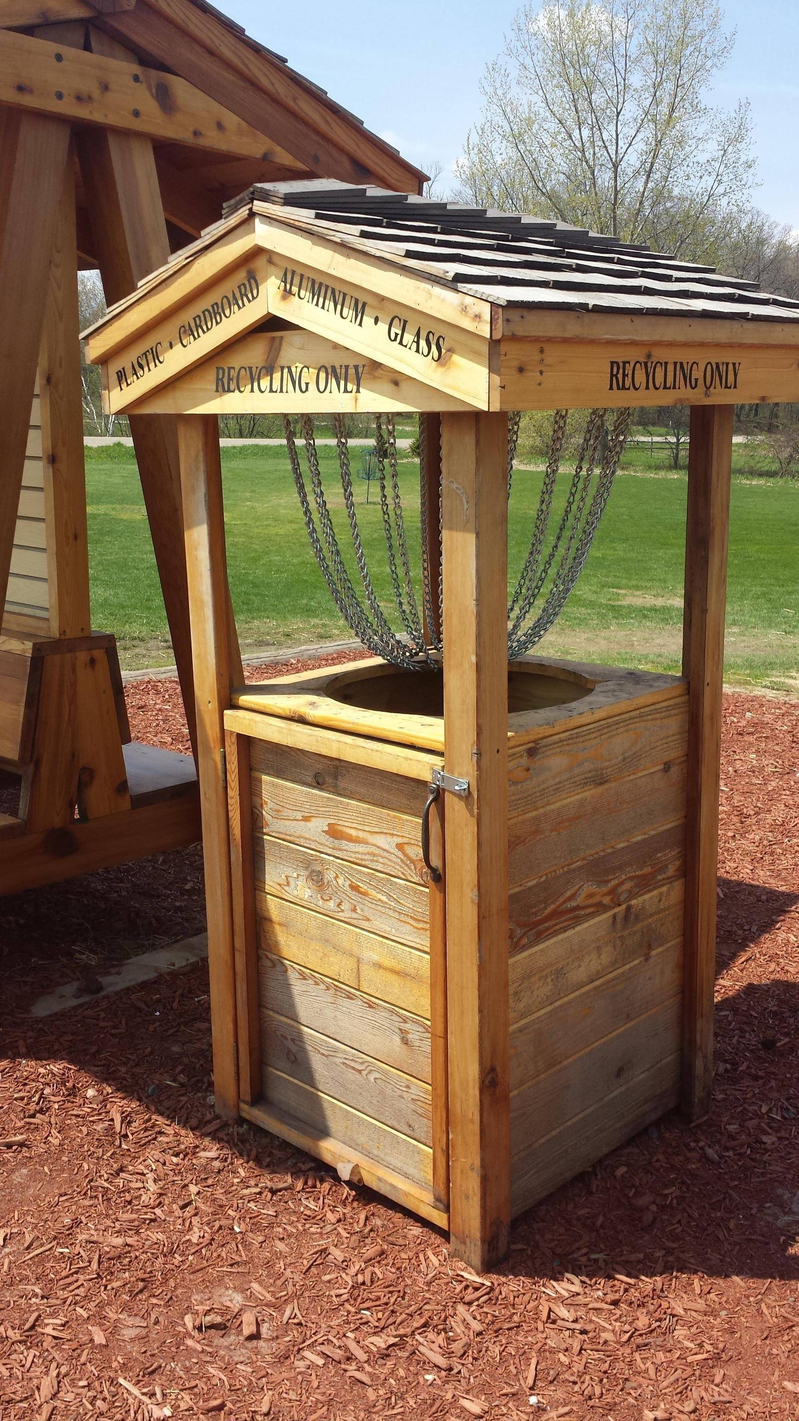 diy disc golf basket wood