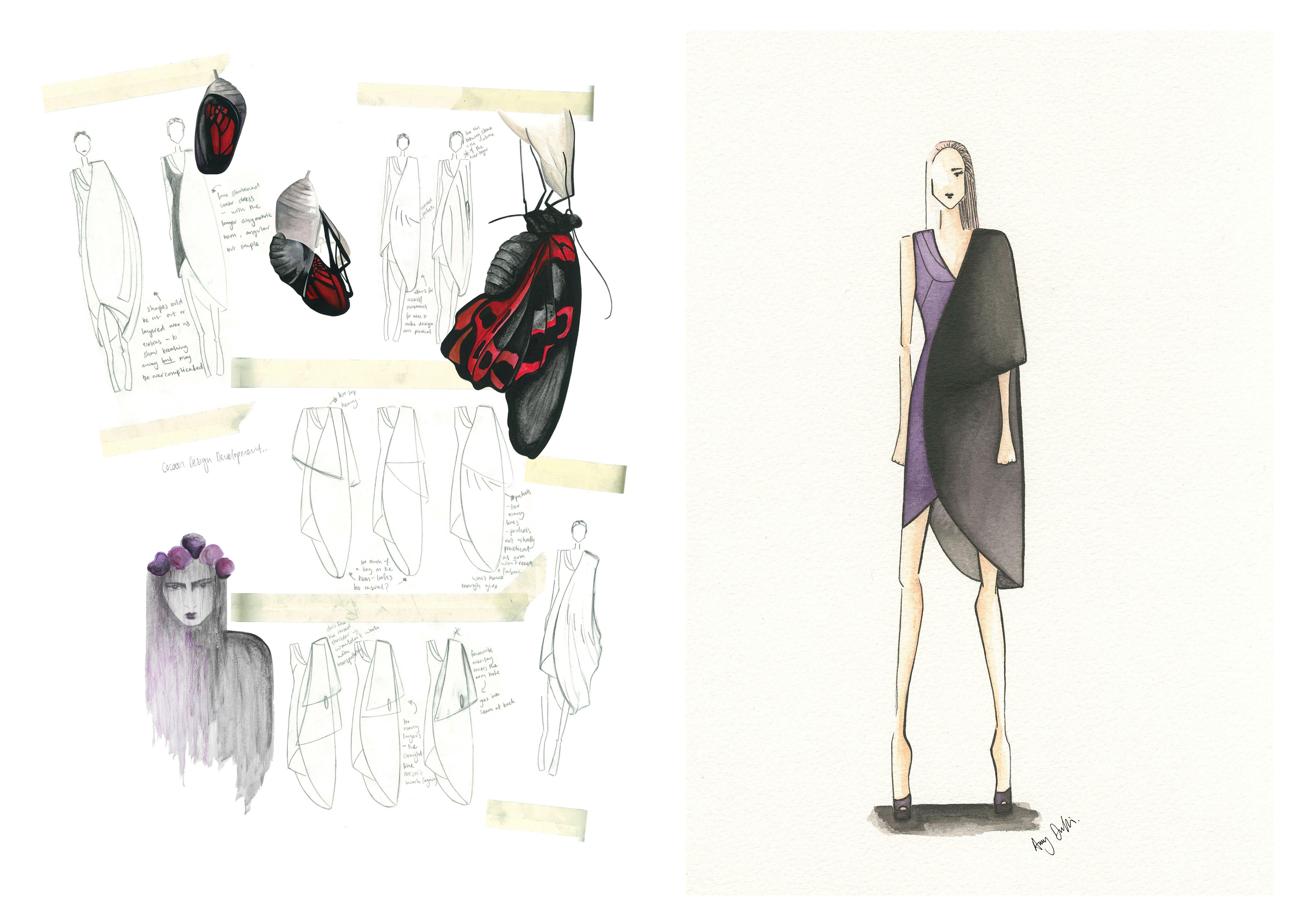 Translucent B Design Development 2 #alotlikeamy #designportfolio #fashiondesign #cad #illustration