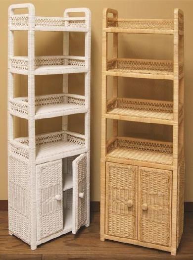 Wicker Bathroom Furniture, Wicker Shelves For Bathroom