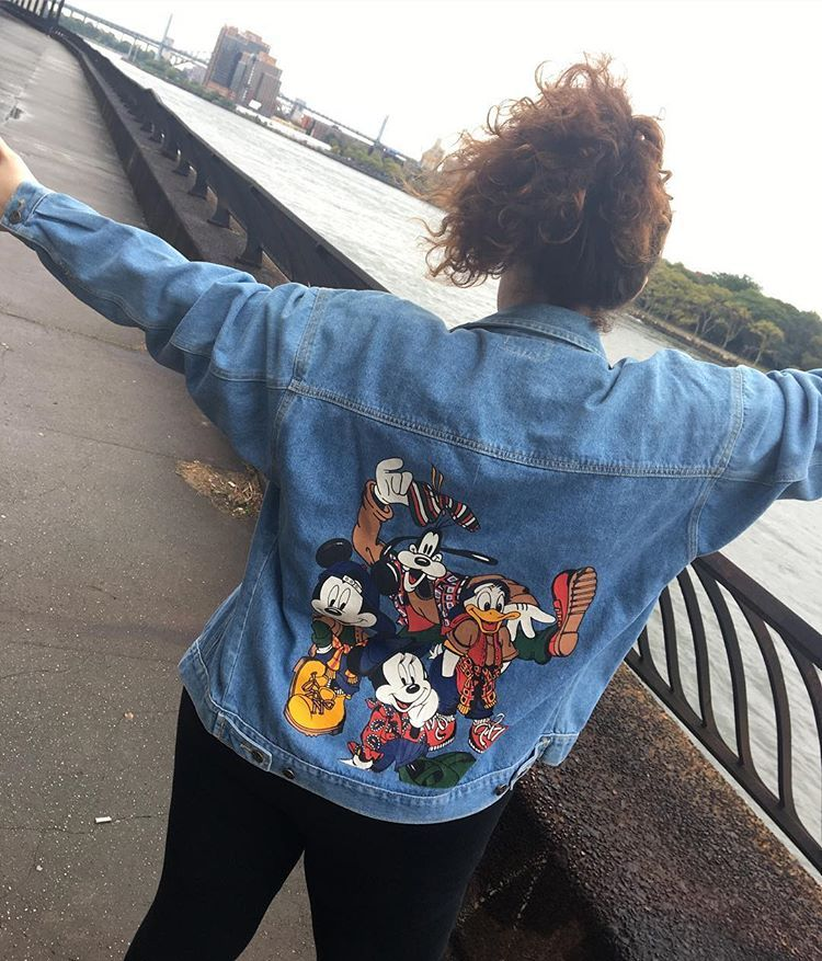 Rocking My Mom S Vintage 90s Disney Jean Jacket For Today S Fallintodisneystyle Challenge 90s Disney What 90s Slang Would You Ma Jean Jacket Jackets Vintage