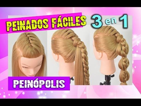 3 peinados faciles con trenzas