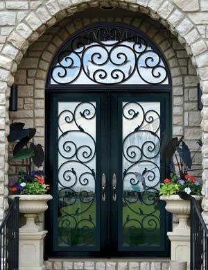 Custom Doors-Leaded Glass Entry Doors-Beveled French Glass-Stained ...