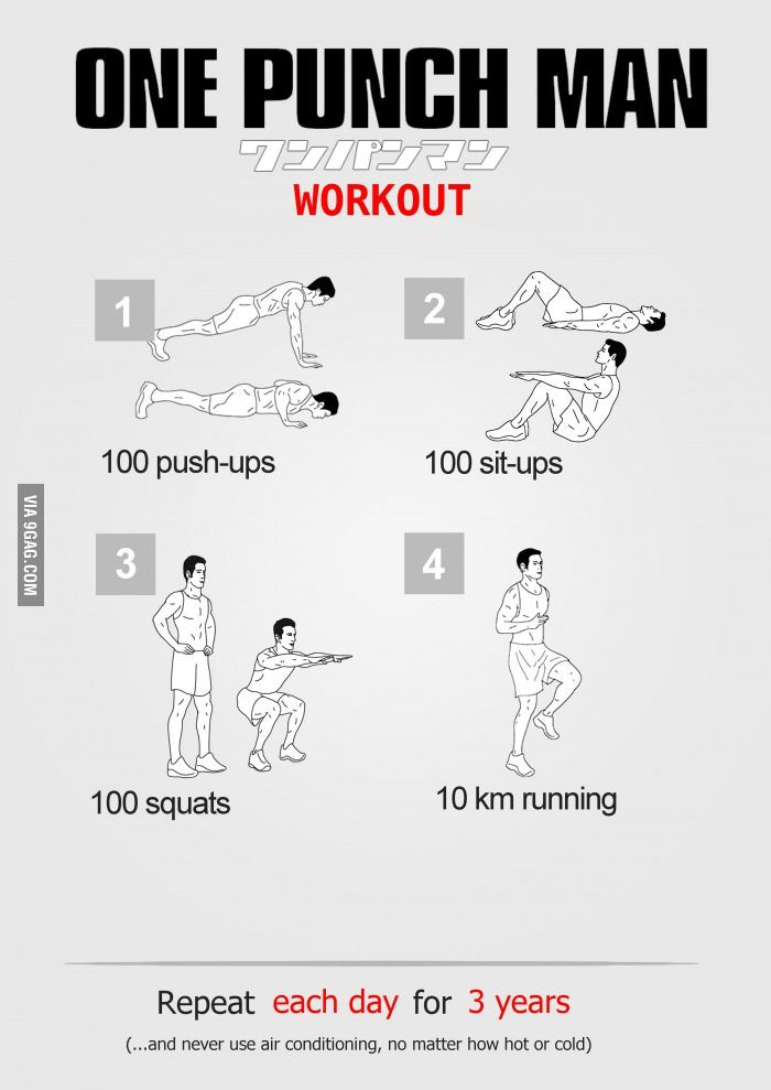 One Punch Man Workout | Workout, Superhero workout and ...