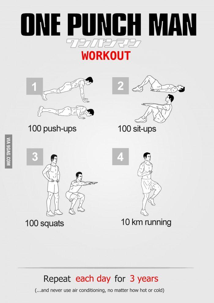 Saitama Workout Routine Results - One Punch Man Workout | ศิลปะการต่อสู้, แผนออกกำลังกาย ...