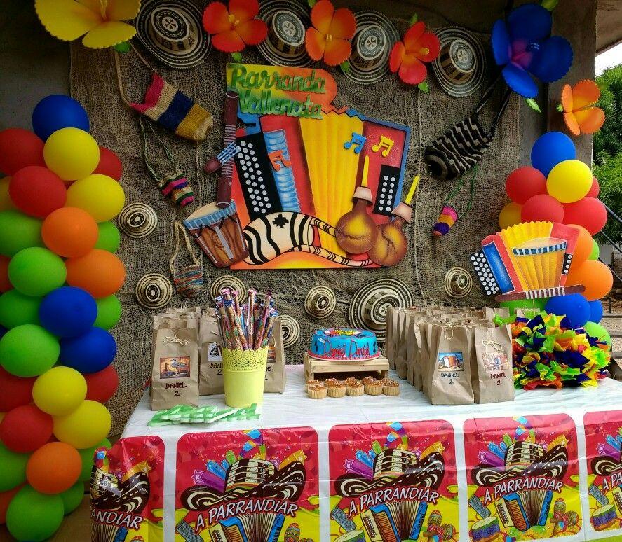 Happy Birthday Festival Vallenato Decoración Carnaval