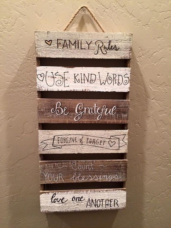 Family Rules by LittleChalkBoutique on Etsy