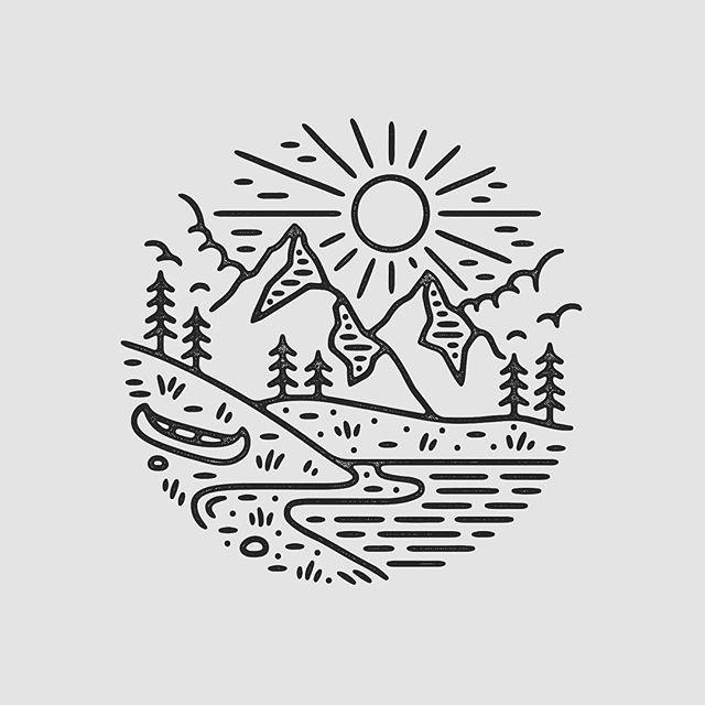 Line Design Art Ideas : Sol e montanhas brasão pinterest design art tattoo