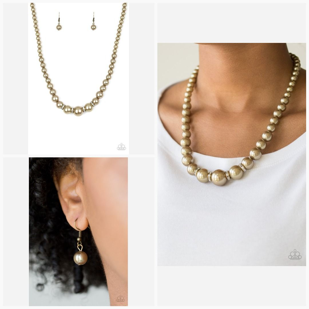 Party Pearls Brass Paparazzi Necklace