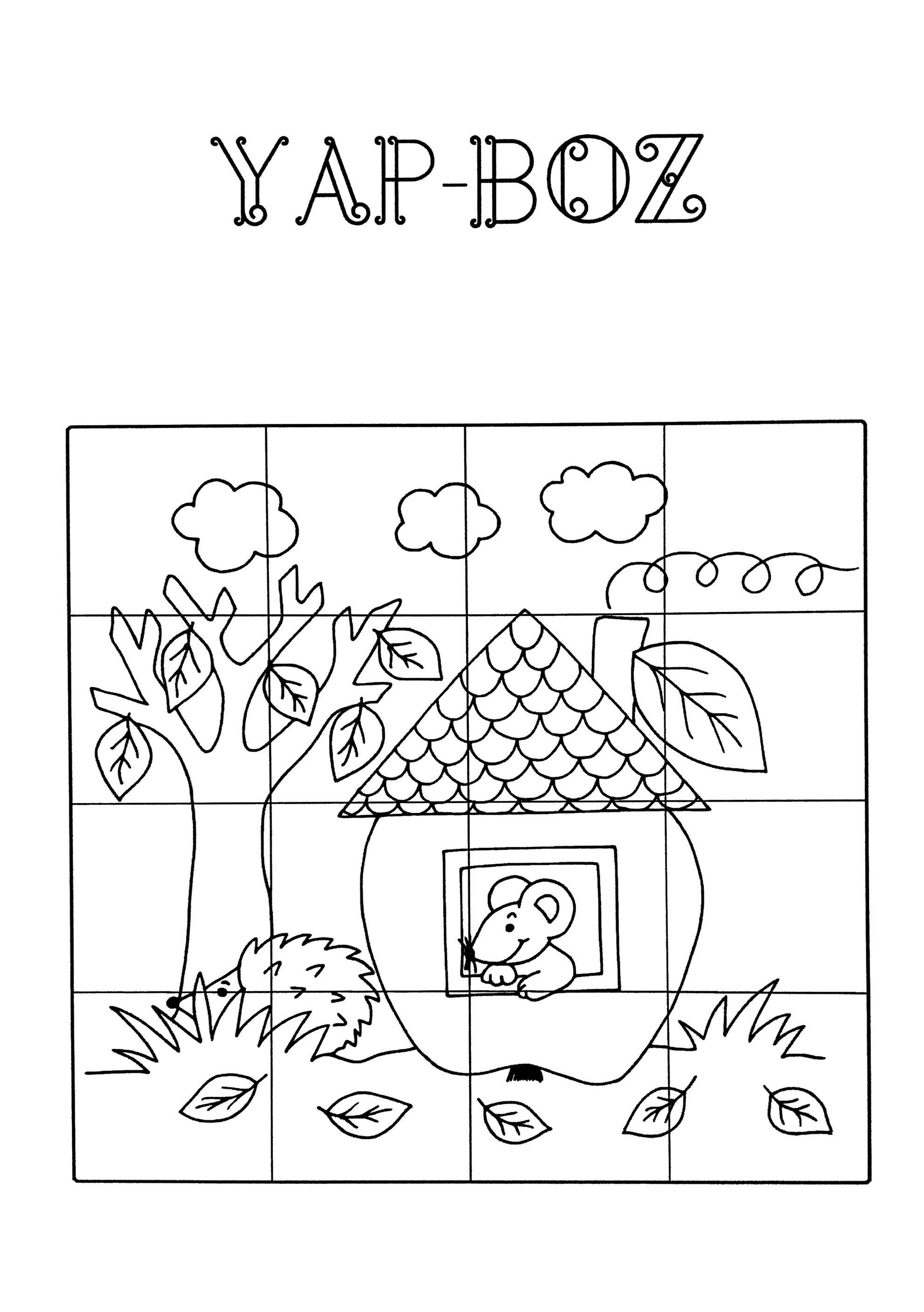 Puzzle Yapboz Boyama Sayfalari Okul Oncesi Faaliyetler