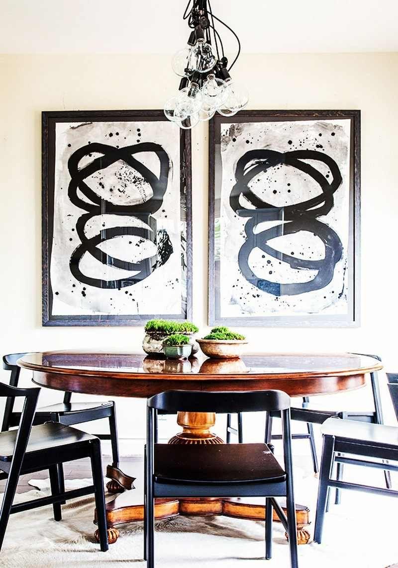 Table A Manger Originale idée déco salle à manger où la déco murale colorée prend vie