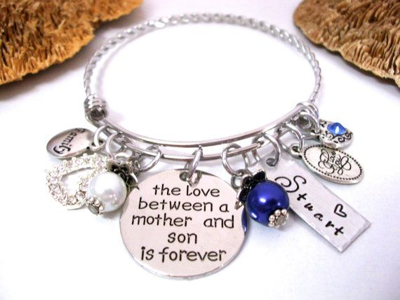 Mother And Son Jewelry Bracelet Personalized