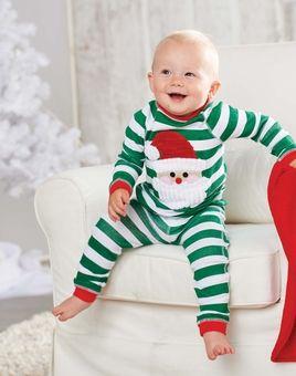 802032c53 Green Stripes Santa Lounge Set  Mud Pie Infant or Toddler Christmas ...