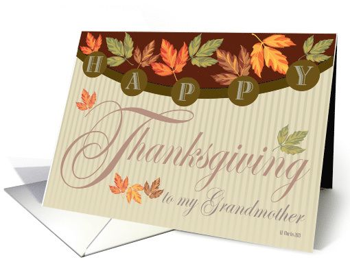 Fall foliage Thanksgiving Card for Grandmother card