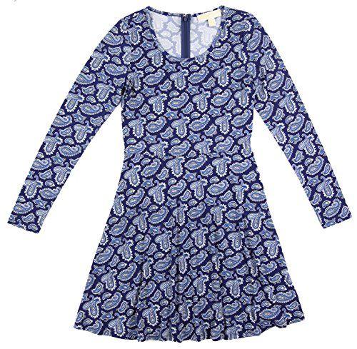 MICHAEL KORS Michael Kors Women'S Paisley Long Sleeve Drop Waist Dress. #michaelkors #cloth #