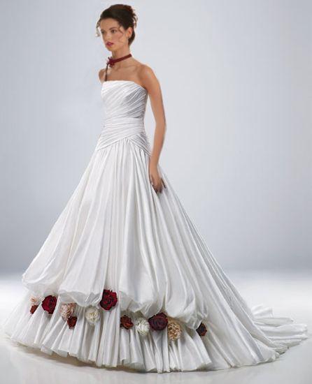 Hochzeitskleid in A Form: www.brautkleid-brautkleider.net