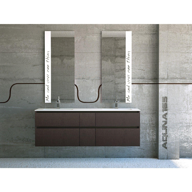 mobile bagno con doppio lavabo aquna cm 175 h84 p52 composto da