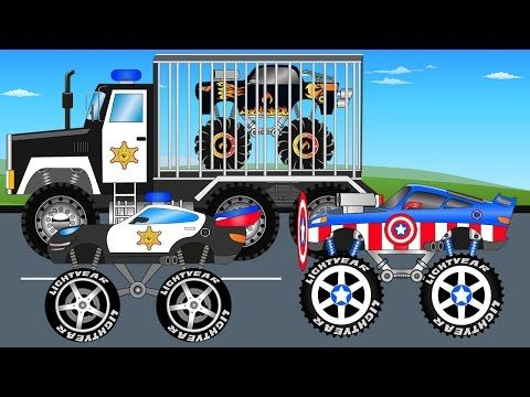 Learn Colors Paw Patrol Monster Truck Lightning Mcqueen Toys 2d Trucks Colours Kids Children Songs Monster Trucks Truck Videos For Kids Monster Truck Videos