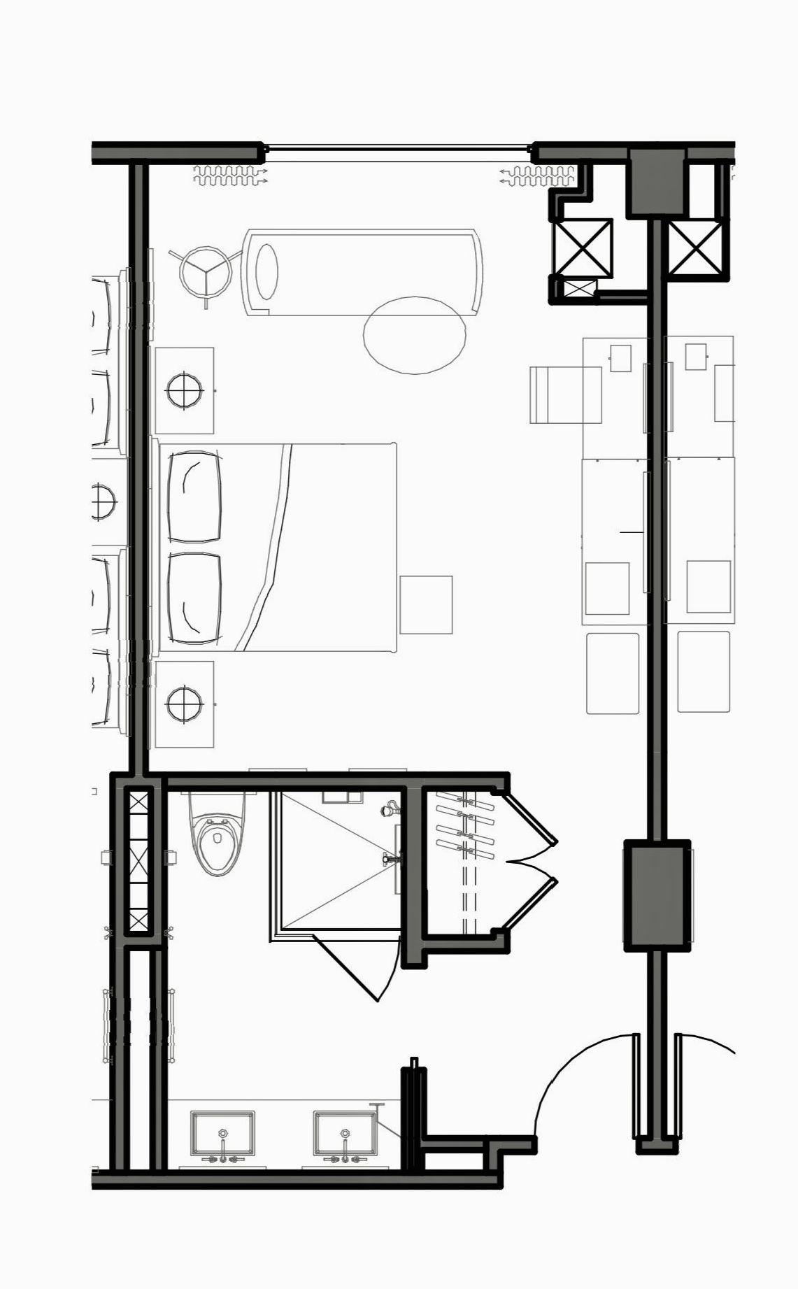 Pin On Floor Plan Hotel Room