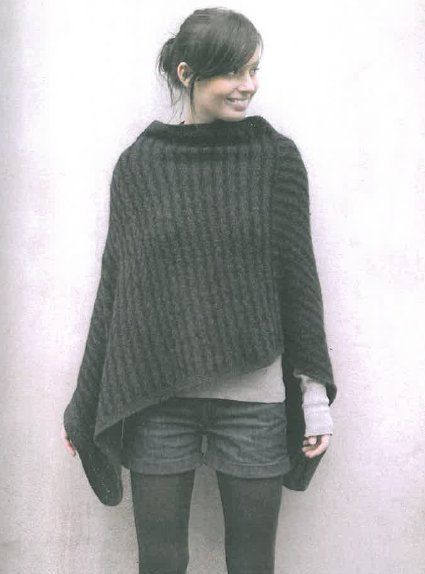 modele tricot poncho femme poncho pinterest ponchos crochet and tricot. Black Bedroom Furniture Sets. Home Design Ideas