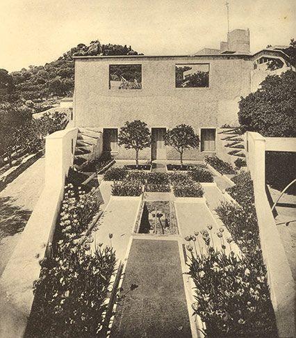 Villa Noailles Hyeres Gabriel Guevrekian 1926 27 View South From