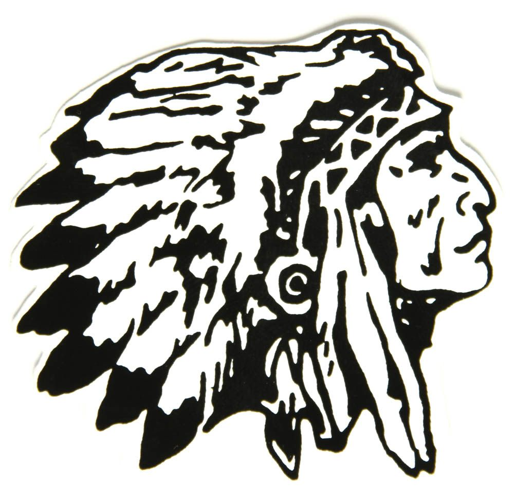 Chs X003 Indian Chief Head Sticker Jpg 1000 973 Indian Head Tattoo Indian Chief Indian Drawing