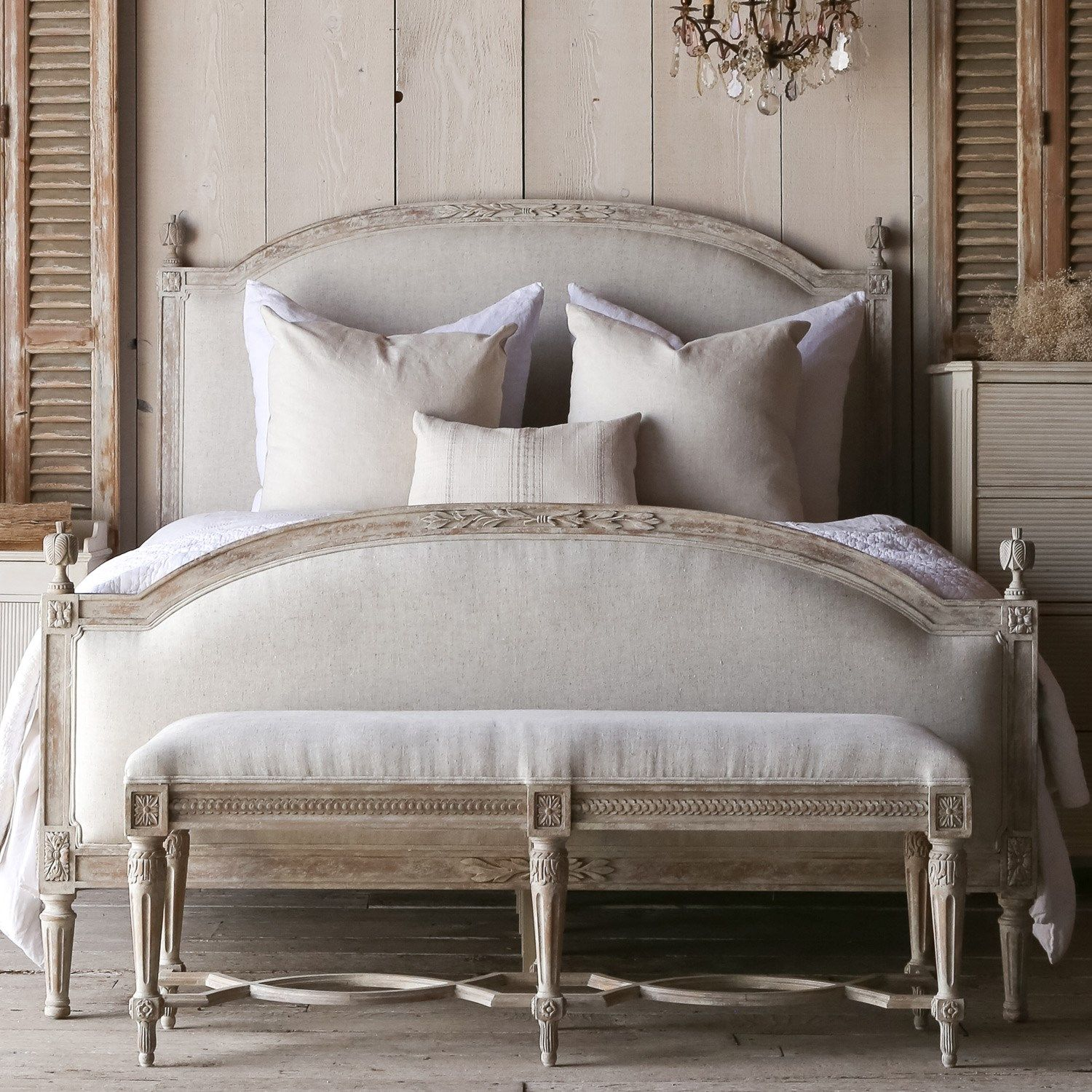 Eloquence Dauphine Upholstered Beach House Natural Bed